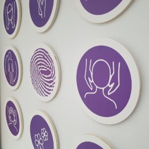 Ikonen op hout aan de muur